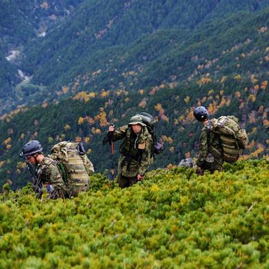 Japanese Self Defense Force Training Hike, Nagano