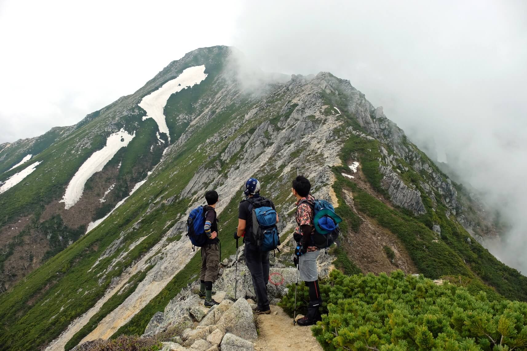 The Approach to Mt. Jonen, Northern Alps, Nagano
