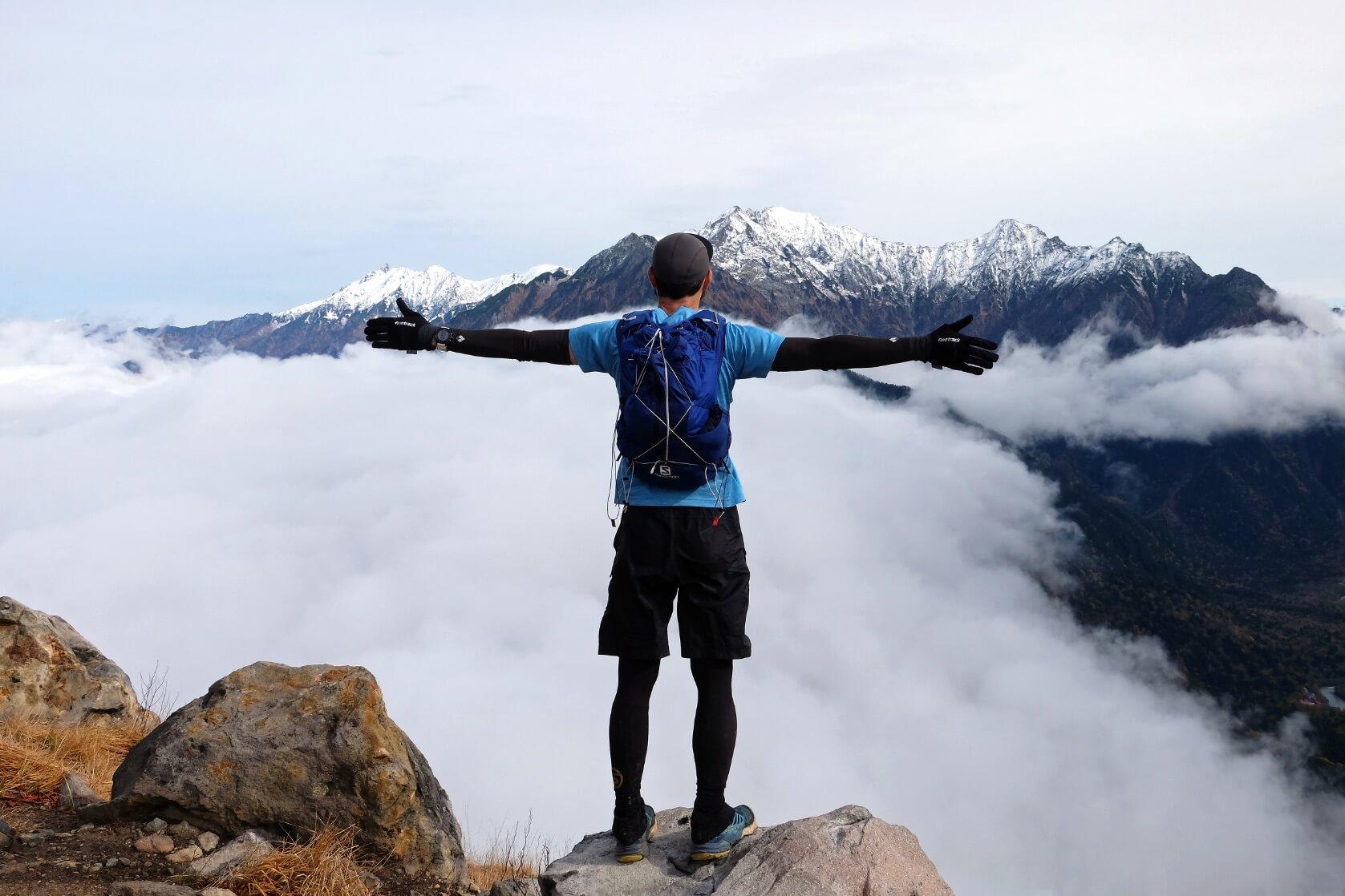 The Snowcapped Hotaka Range from Mt. Yake, Northern Alps, Nagano