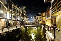 Ginzan Onsen at Night, Yamagata