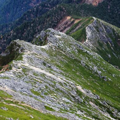The Rocky Ridge Below Mt. Jonen, Nagano