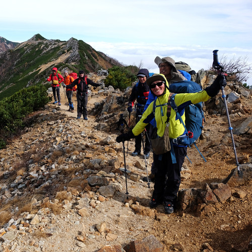On the Approach to Mt. Otensho, Nagano