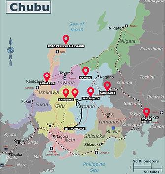 Japan Chubu Map