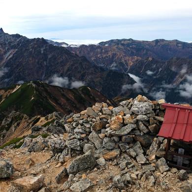 Small Shrine on the Summit of Mt. Otensho, Nagano