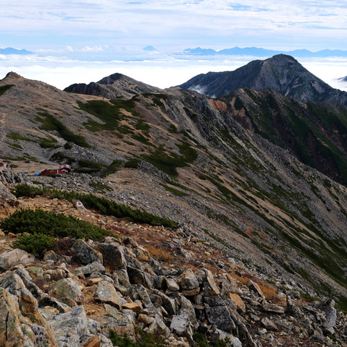 The Ridge to Mt. Jonen from Otensho, Nagano