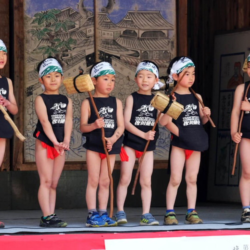 Local Children Participating in the Costume Contest, Salt Road Festival, Nagano