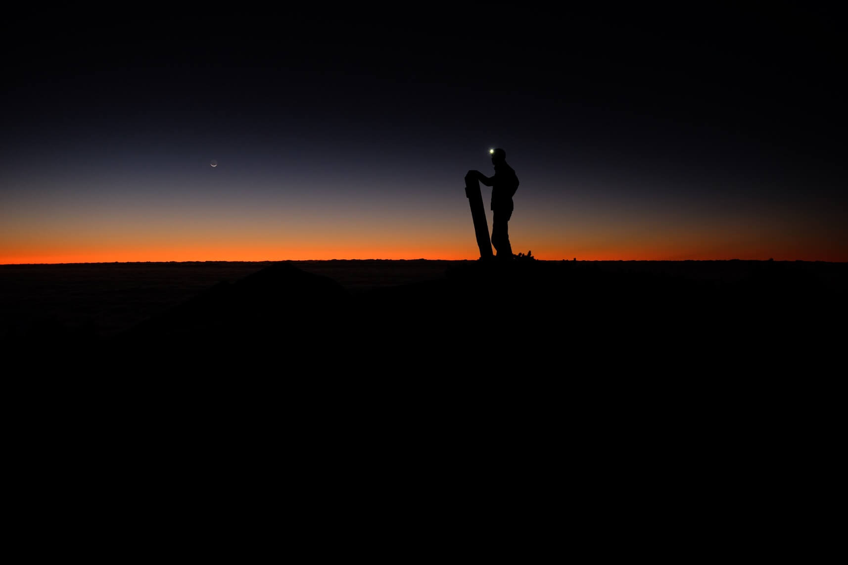 Solo Sunrise on Mt. Harinoki, Northern Alps, Nagano
