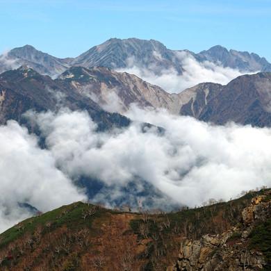 Mt. Tateyama & Tsurugi in the Distance, Nagano