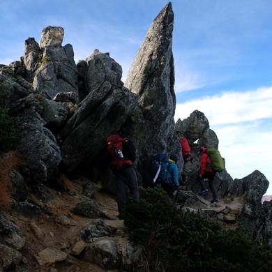 Hiking Through Granite Boulders, Nagano
