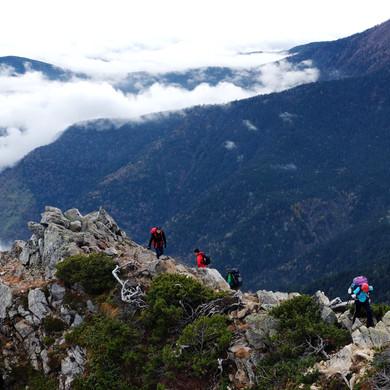 Climbing the Final Approach to Mt. Jonen, Nagano