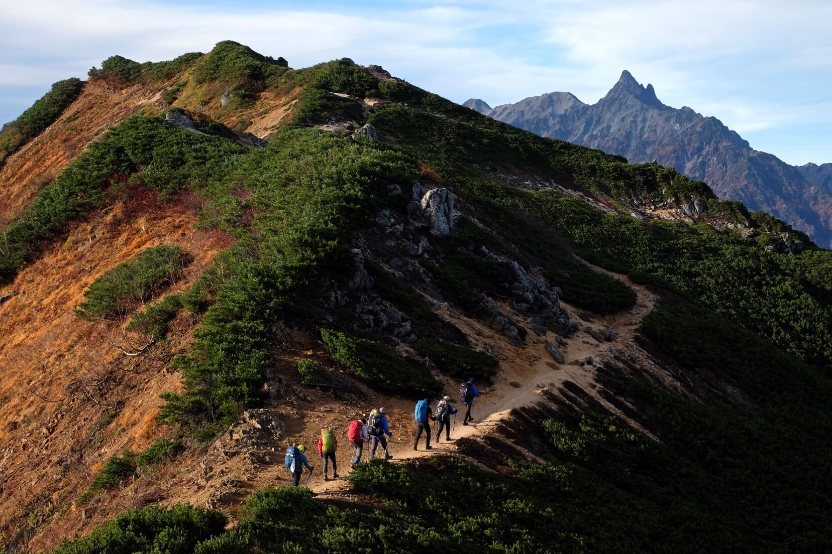 The Panorama Ginza Trail, Northern Alps, Nagano