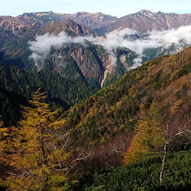 Panorama Ginza in Autumn, Nagano