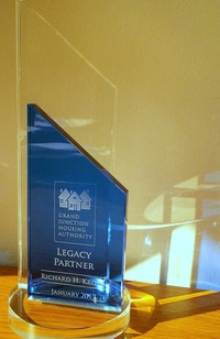 Rich Krohn has received the Legacy Partner Award from the Grand Junction Housing Authority
