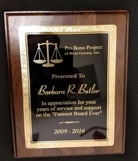 Partner Barbara Butler recognized for service to the Pro Bono Project of Mesa County