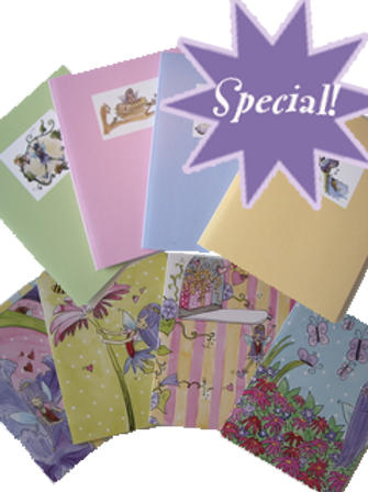 Set of 8 Petalwink the Fairy® Notecards
