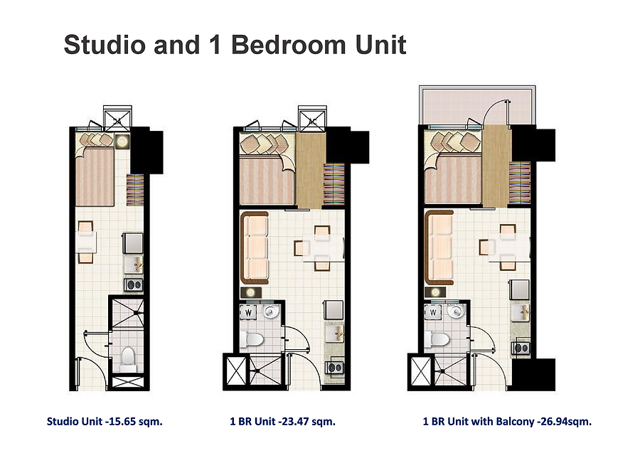Mezza 2 Residences Studio and 1 bedroom