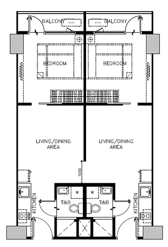 Sail Residences Combined Layout 64.32 sq