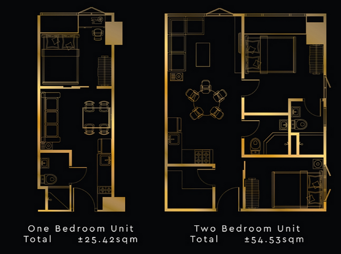 Gold Residences Unit Layout 1 bedroom an