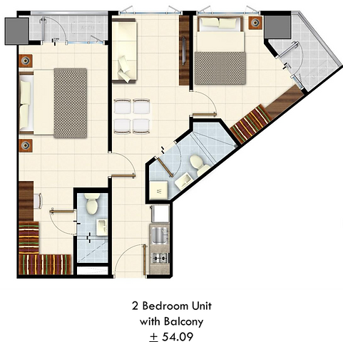 Lush Residences 2 Bedroom with Balcony.p