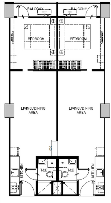 Sail Residences Combined Layout 77.50 sq