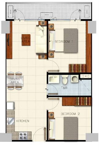 Sail Residences 2 Bedroom with Balcony 6