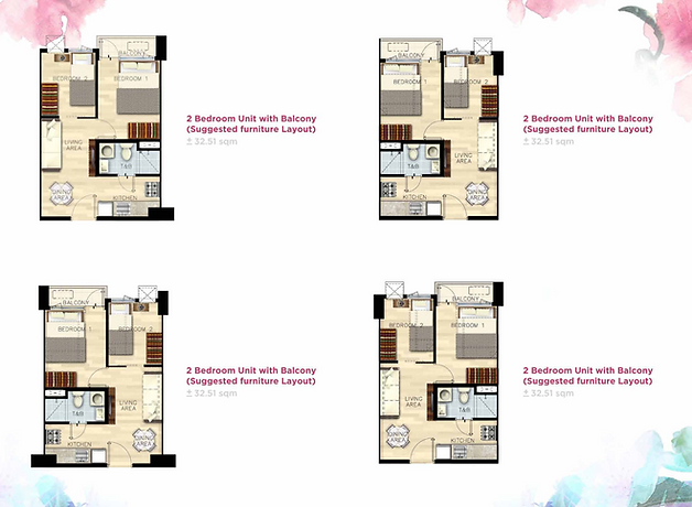 Bloom Residences 2 bedroom with balcony