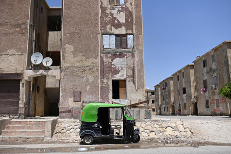 Residential areas at Badr city are scattered around the factories with limited transportation options. Residents are forced to use public transport of microbuses and toktoks in order to reach to the other side of the Badr highway.