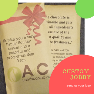 CUSTOM CANDY BARS WITH BUSINESS NAME