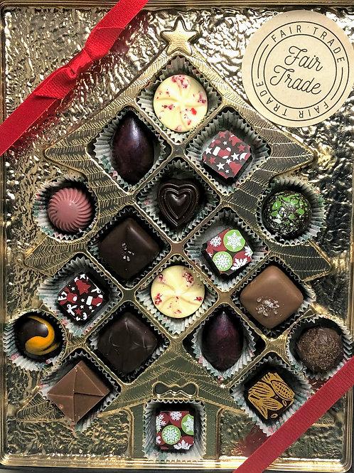 18 Piece Christmas Chocolate box