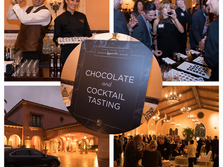 Torrey Pines Bank Cocktail and Chocolate Pairing - what a night!