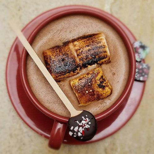 Belgian Hot Cocoa Kit with 6 housemade Madagascar Vanilla Marshmallows