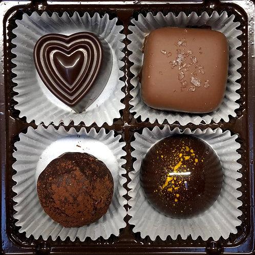4 piece Couverture Chocolates