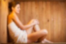 Robertson Contracting Calgary - Woman in Sauna