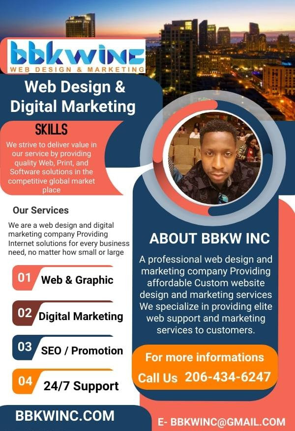 BKKWINC is a professional web design and marketing company Providing affordable Custom website design and marketing services. We specialize in providing elite web support services to customers.