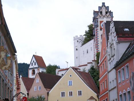 Füssen - Blich auf das Hohe Schloss