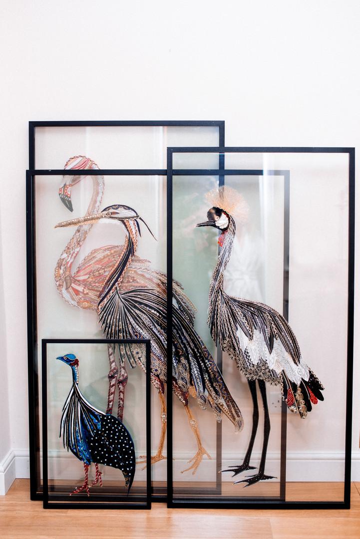 Unique Framed Birds - Lily Adele Art