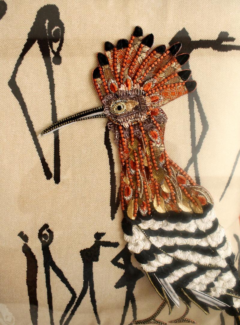 African Hoopoe Detail - Lily Adele Art
