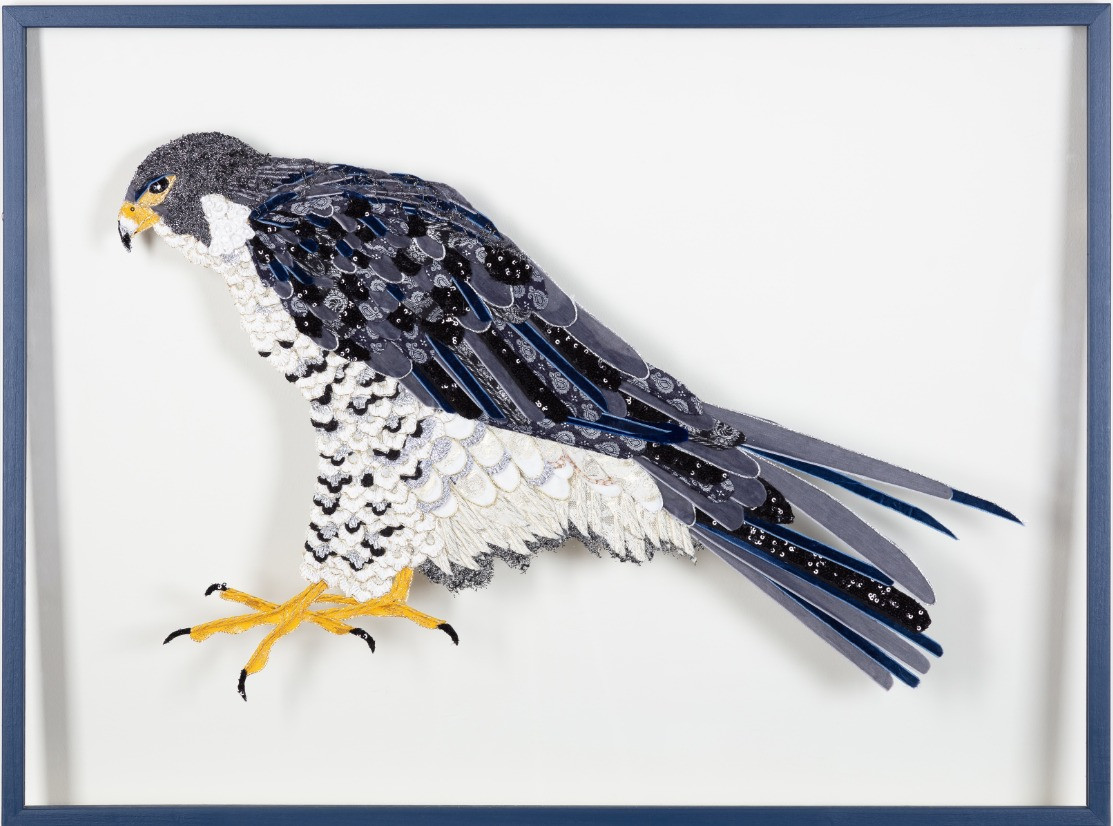 Peregrine Falcon Fabric - Lily Adele Art