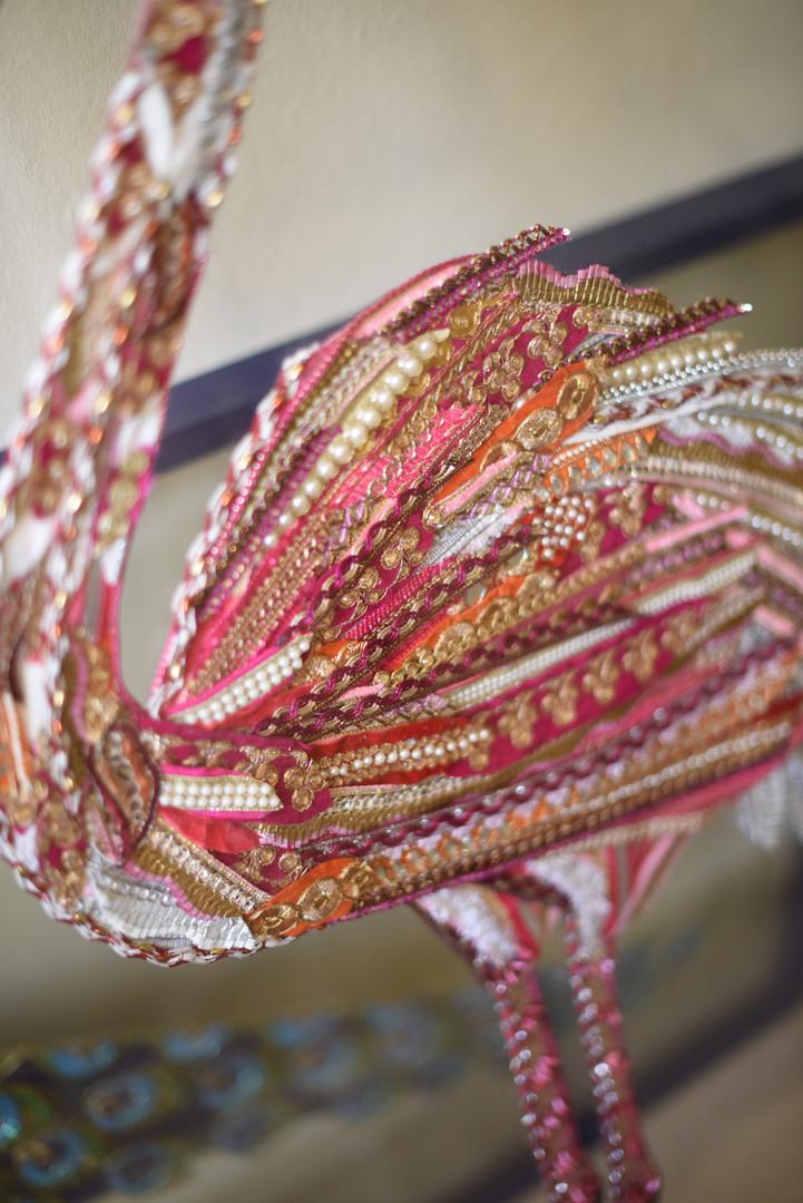 Pink Flamingo Art Body Detail - Lily Adele Art