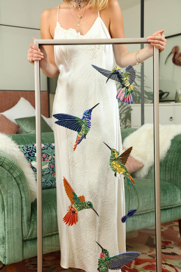 Lily Adele Flying Hummingbirds