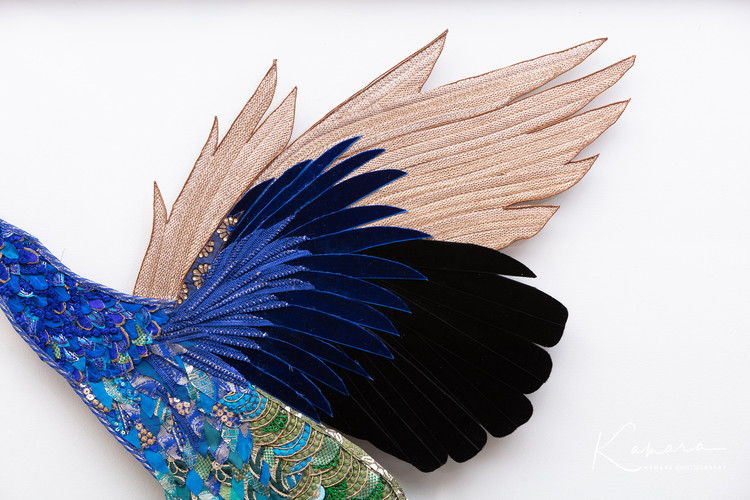 Lily Adele Art peacock wing
