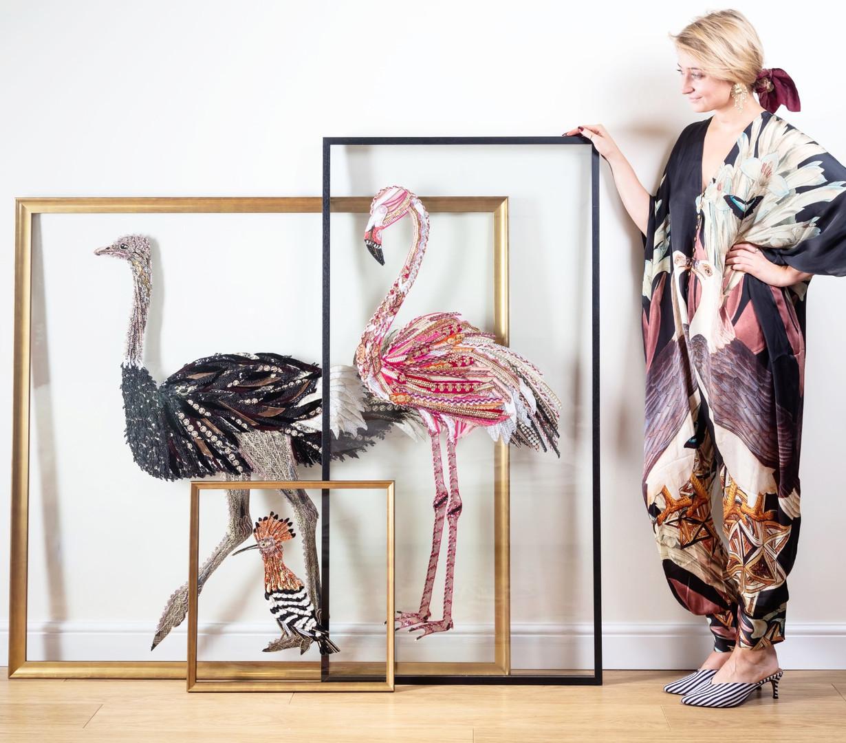 African Bird Art Arrangement - Lily Adele Art
