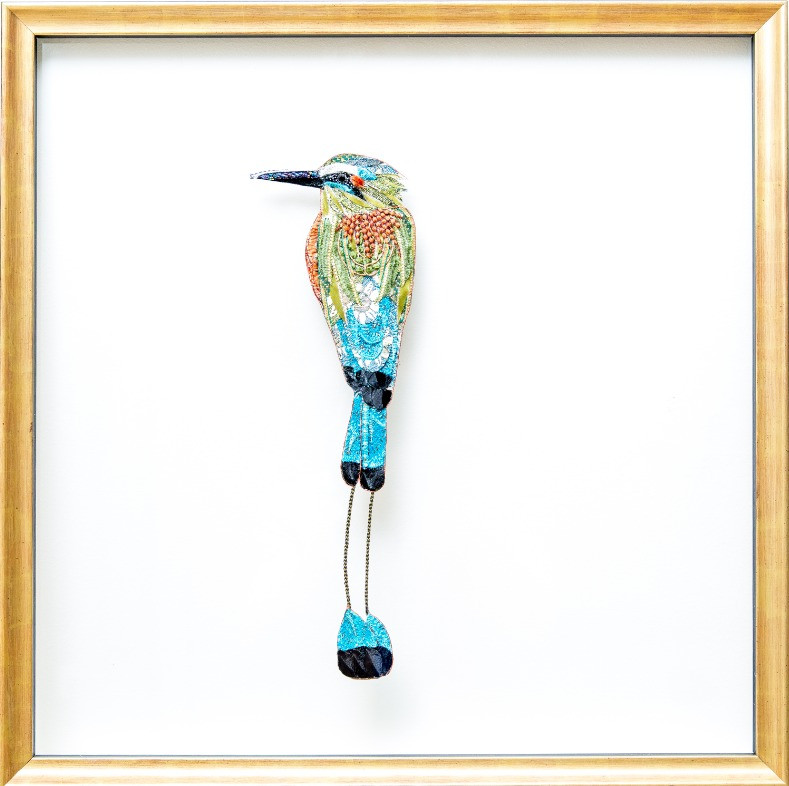 Blue Crowned Motmot - Lily Adele Art