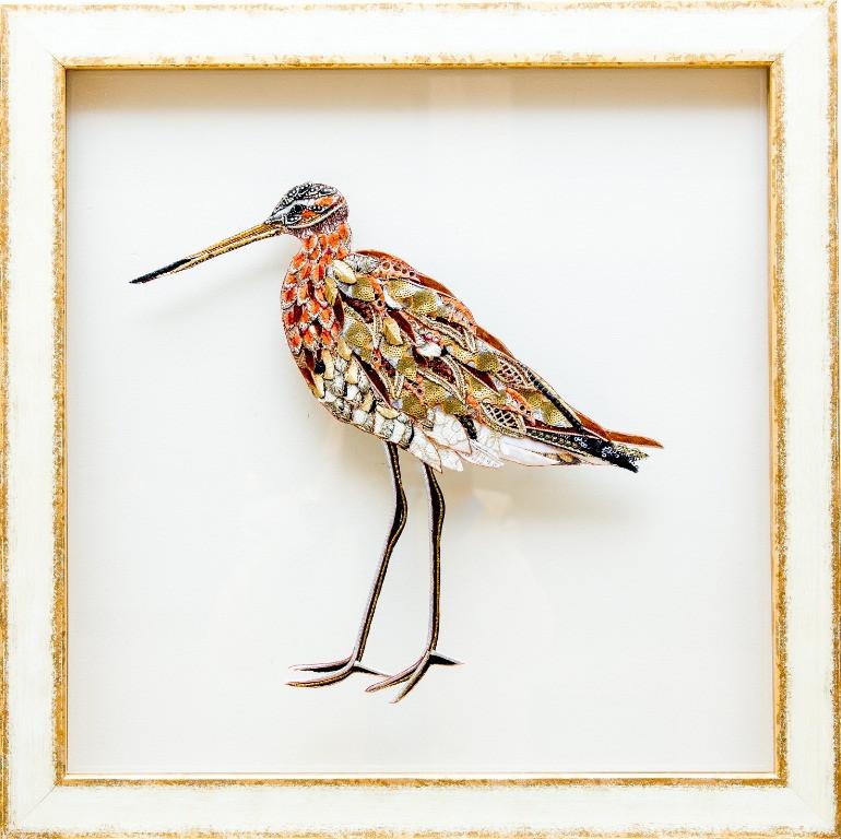 Black Tailed Godwit Art - Lily Adele Art