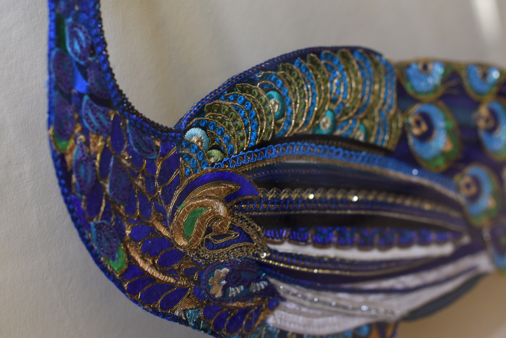 Male Peacock Side Detailing - Lily Adele Art
