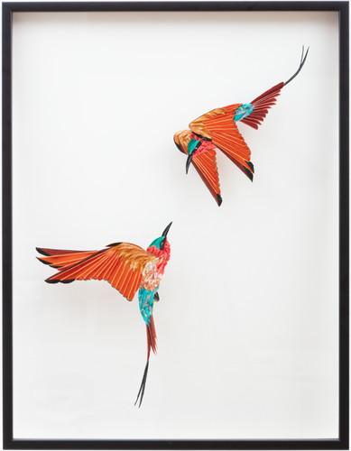 Bee Eaters in flight