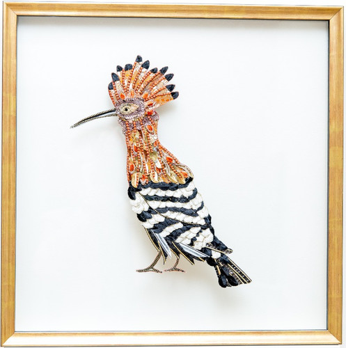 African Hoopoe Framed Wall Art - Lily Adele Art