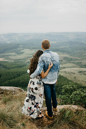 Hugging on Top of Hill