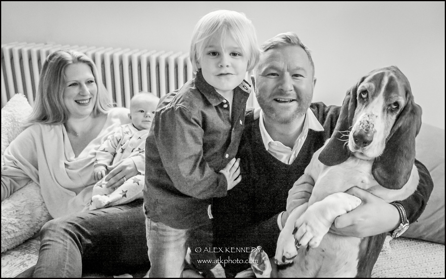 Contemporary bespoke family portrait photography in Bristol