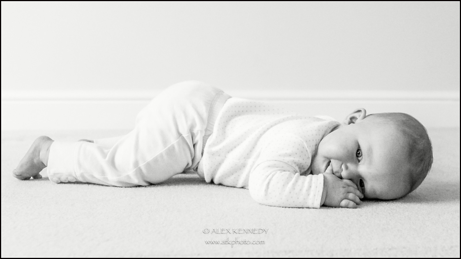 Contemporary bespoke baby portrait photography in Wiltshire
